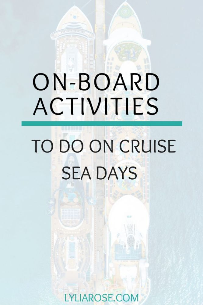 On-board activities to do on cruise sea days (1)