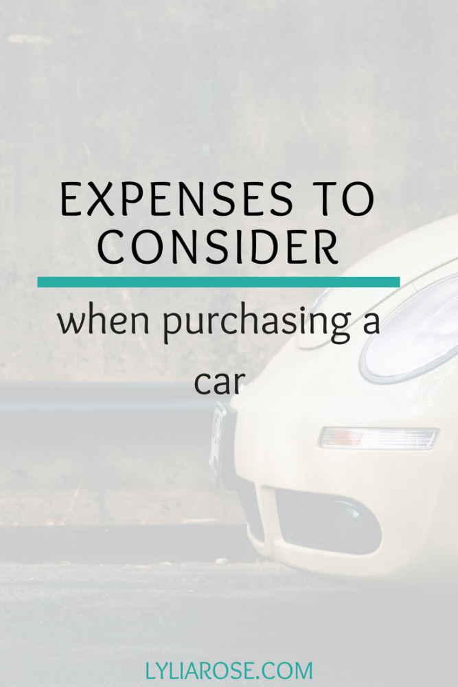 Expenses to consider when purchasing a car