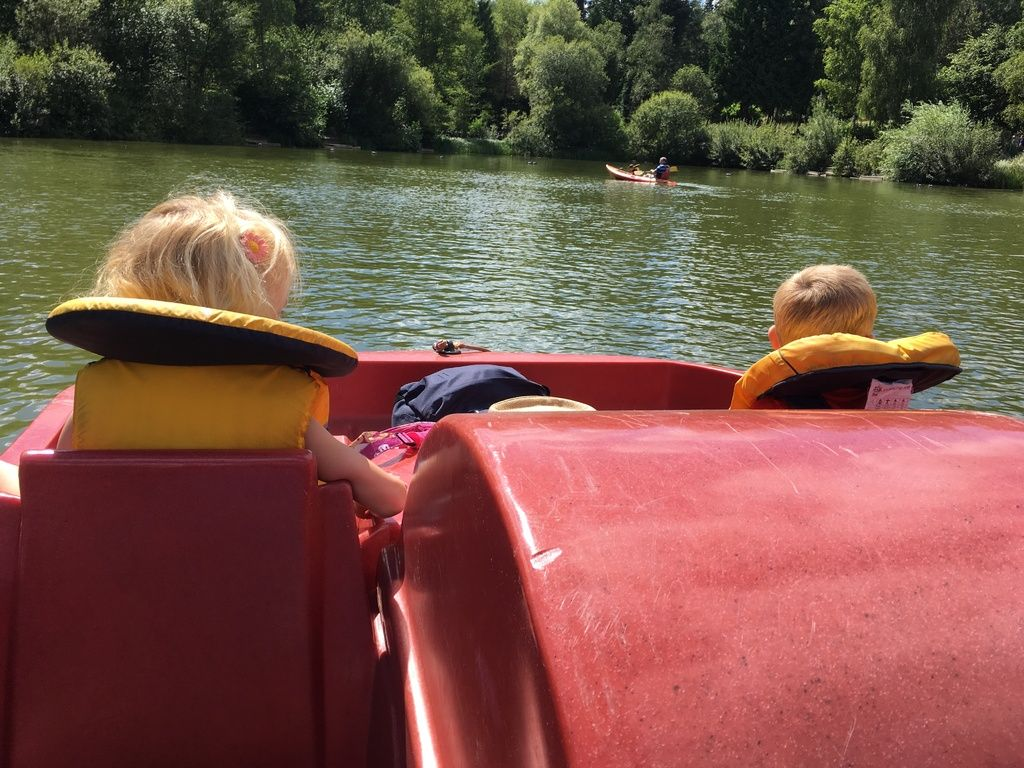 photot of pedalo at center parcs longleat for blog post July 2018 Monthly F