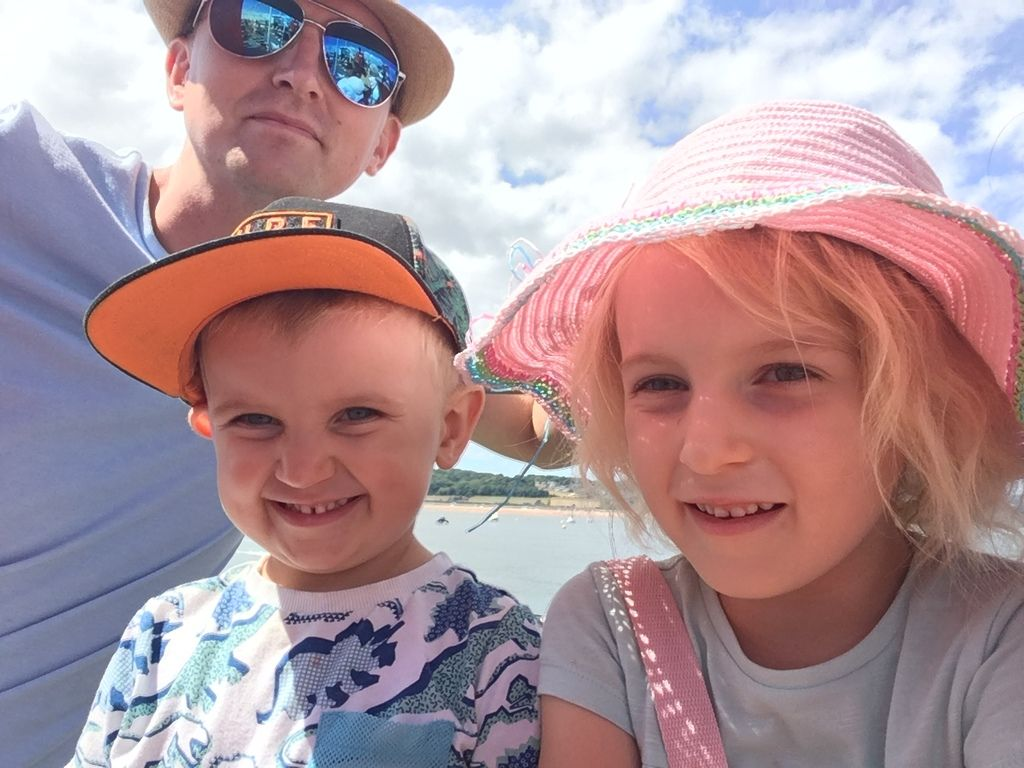 photo of my kids on a cruise in devon for blog post July 2018 Monthly Famil