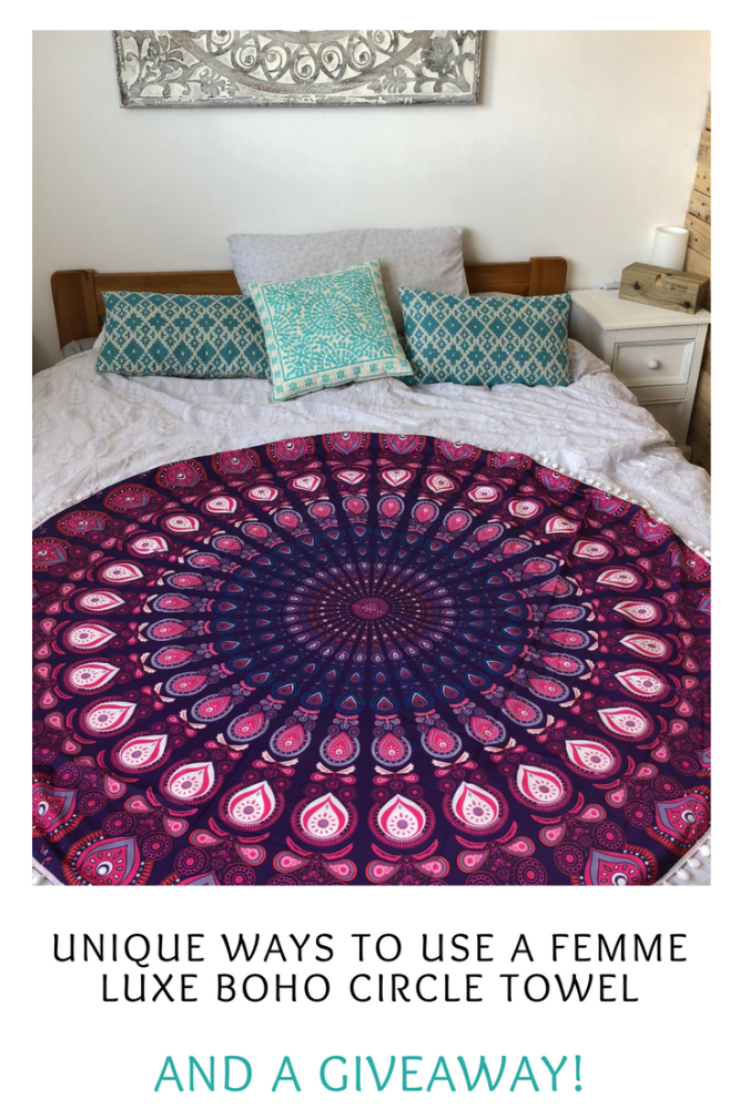 Unique ways to use a Femme Luxe boho circle towel and a giveaway (1)