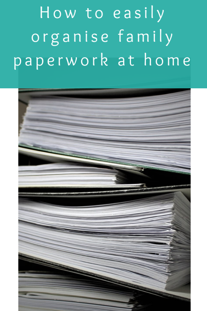 How to easily organise family paperwork at home