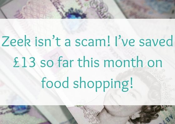 Zeek isn't a scam! I've saved £13 so far this month on food shopping!