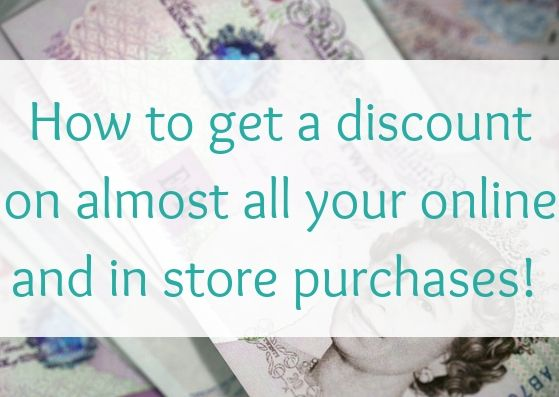 How to get a discount on almost all your online and in store purchases!