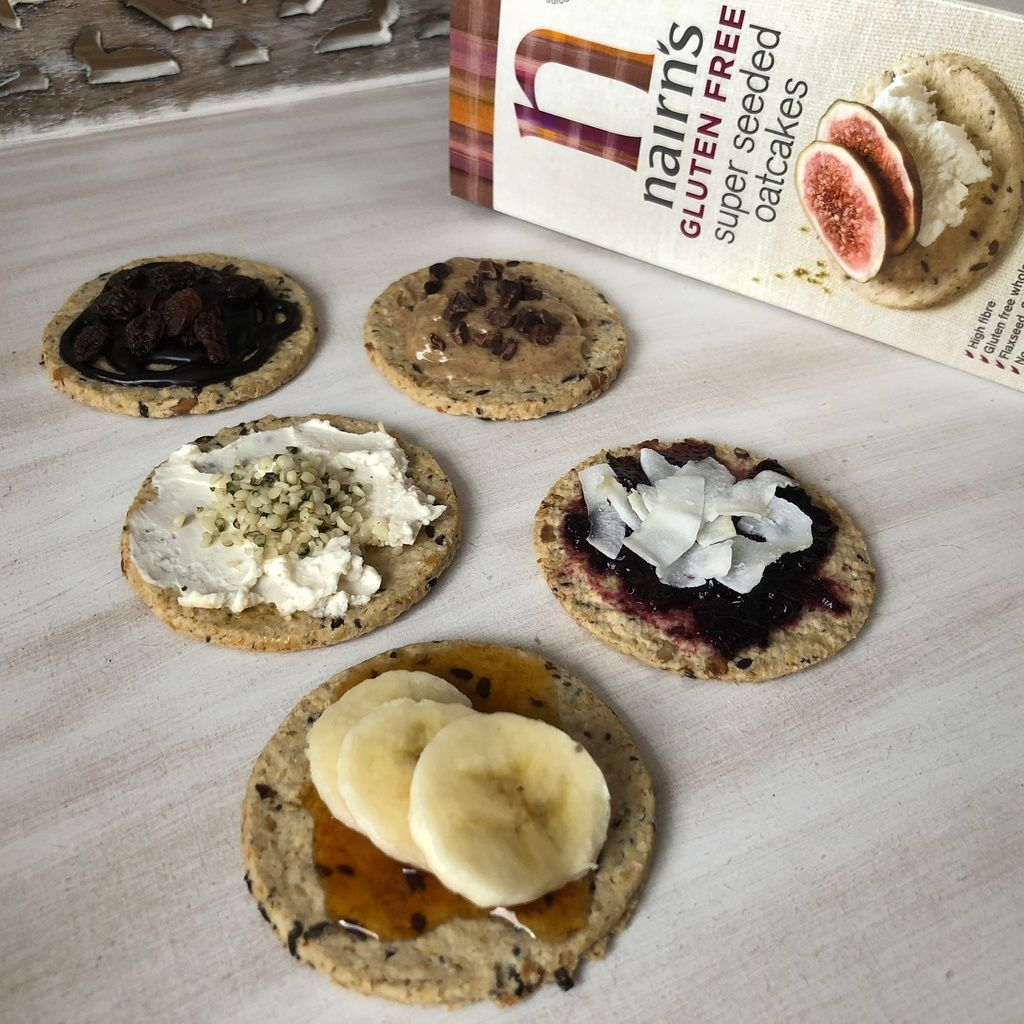 5 quick easy and deliciously sweet vegan Nairn's Oatcakes toppings