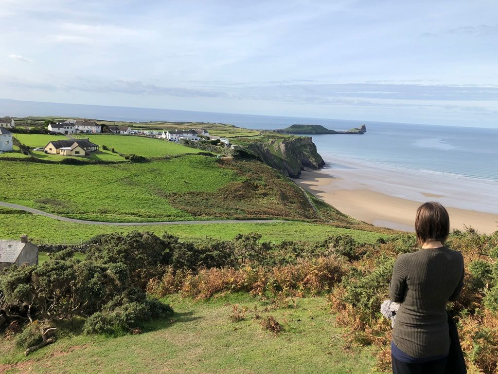 A last minute campervan camping trip to Rhossili Bay, Gower Peninsula, Wale