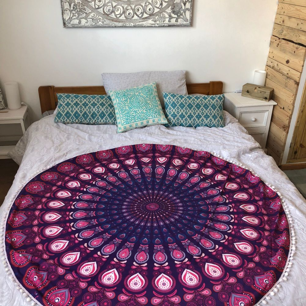 win a purple roundie circle throw beach femme luxe