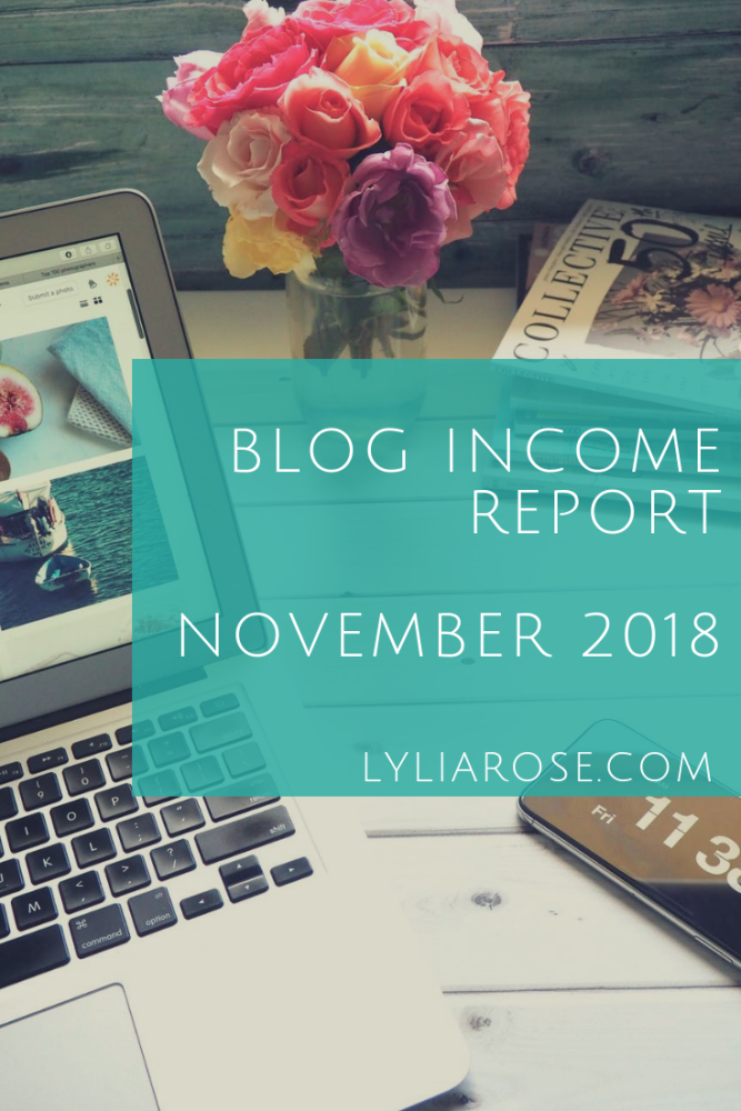 Blogger Blog and Home Income Report NOVEMBER 2018