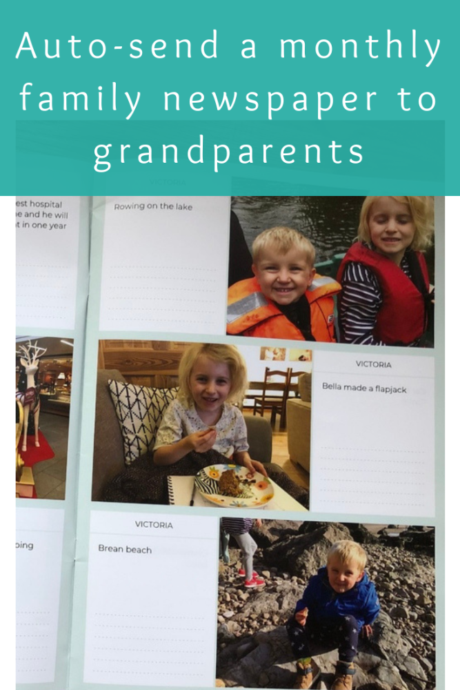 Neveo app review – easily send a family photo newspaper to grandparents eac