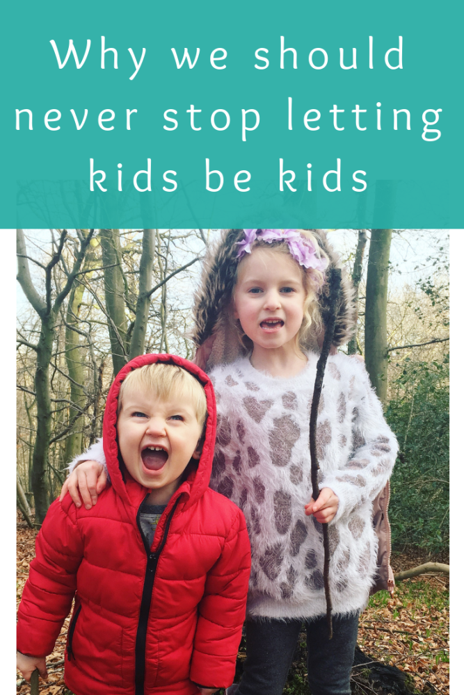 Why we should never stop letting kids be kids