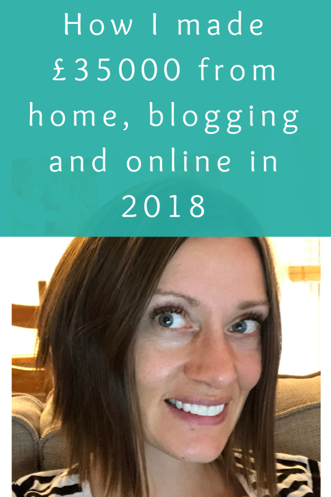 How I made £35000 from home, blogging and online in 2018