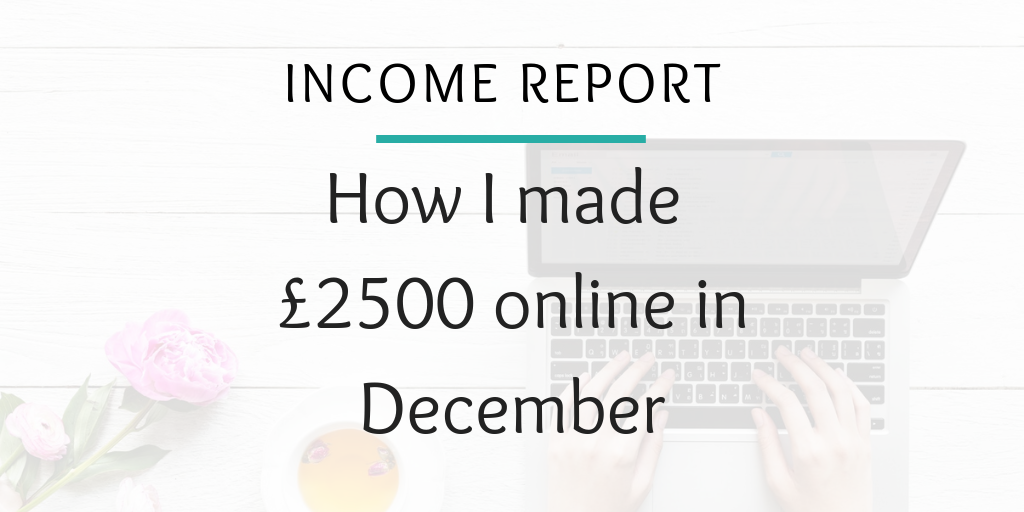 Income report - how I made £2500 online in december from blogging and side