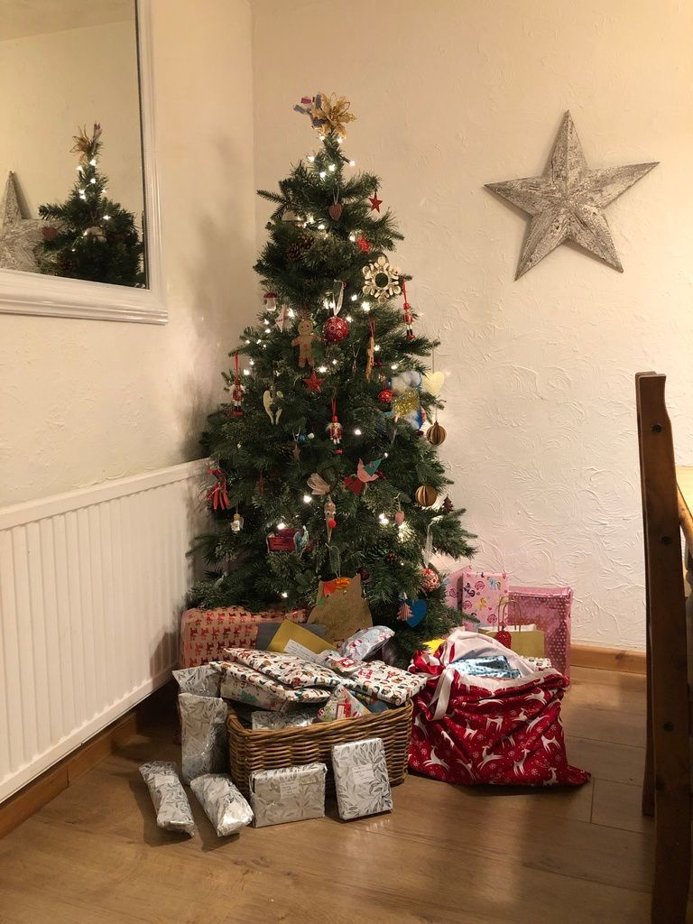December 2018 monthly family roundup christmas tree