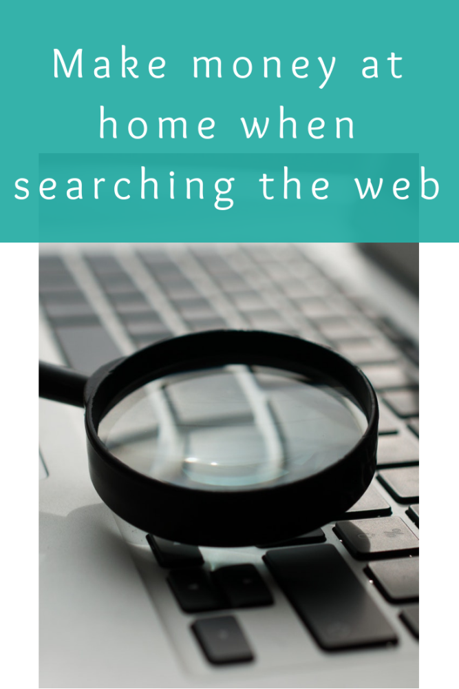 Make money at home when searching the web