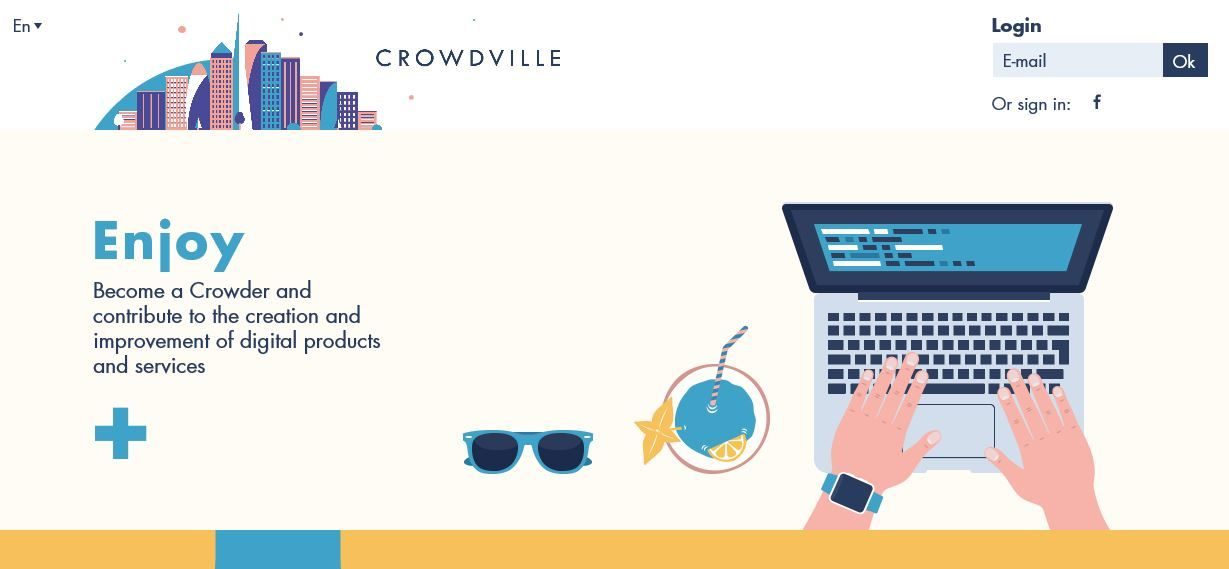 make money at home with crowdville
