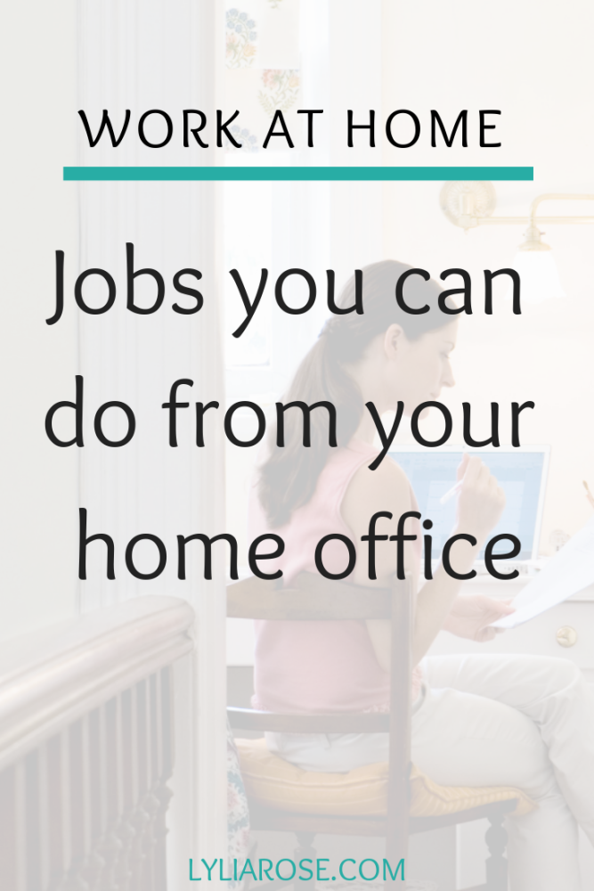 Jobs you can do from your home office (1)
