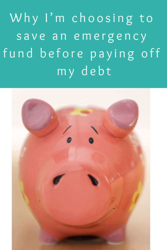 Why I'm choosing to save an emergency fund before paying off my debt (1)
