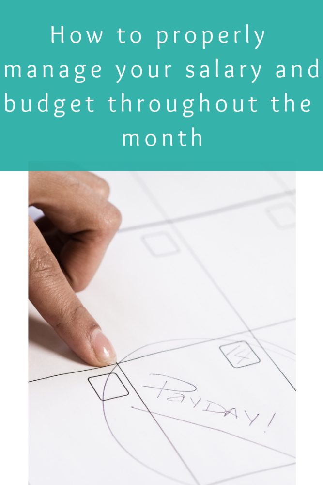 How to properly manage your salary and budget throughout the month (1)