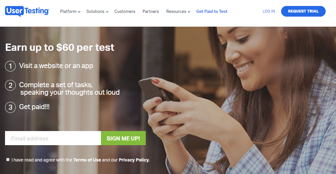 make money online testing websites and apps with User Testing