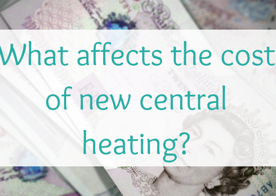 What affects the cost of new central heating?