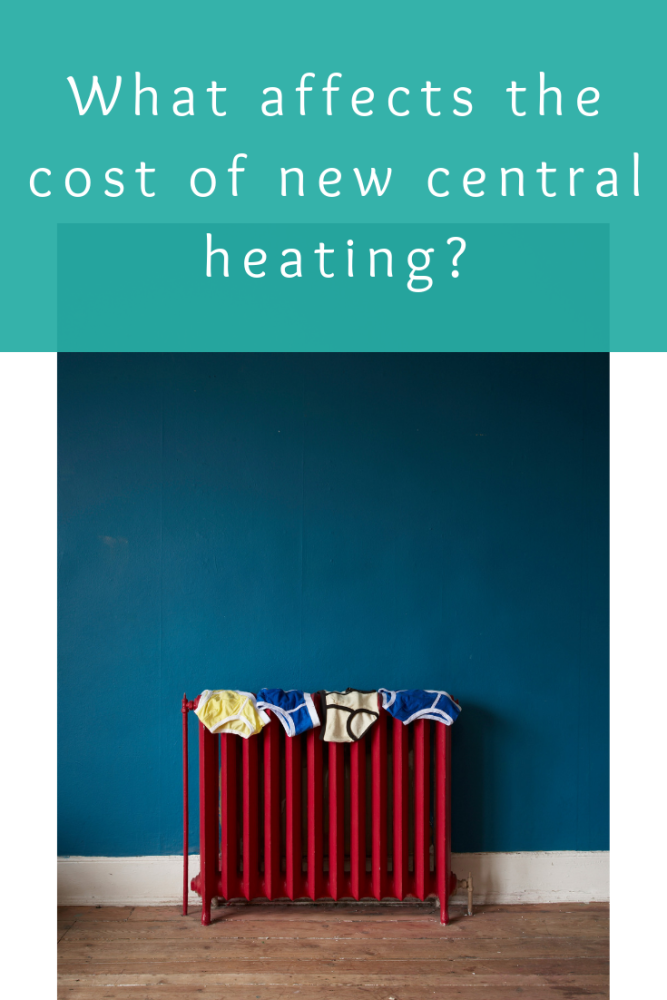 What affects the cost of new central heating_