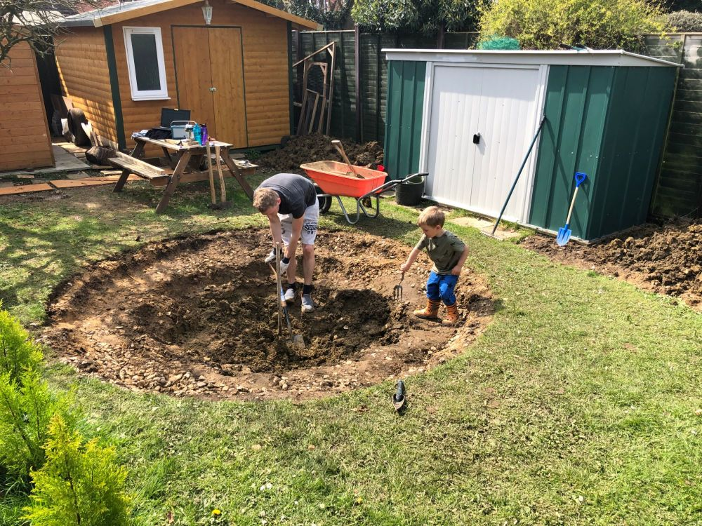 digging hole in ground trampoline April 2019 monthly family roundup and photos