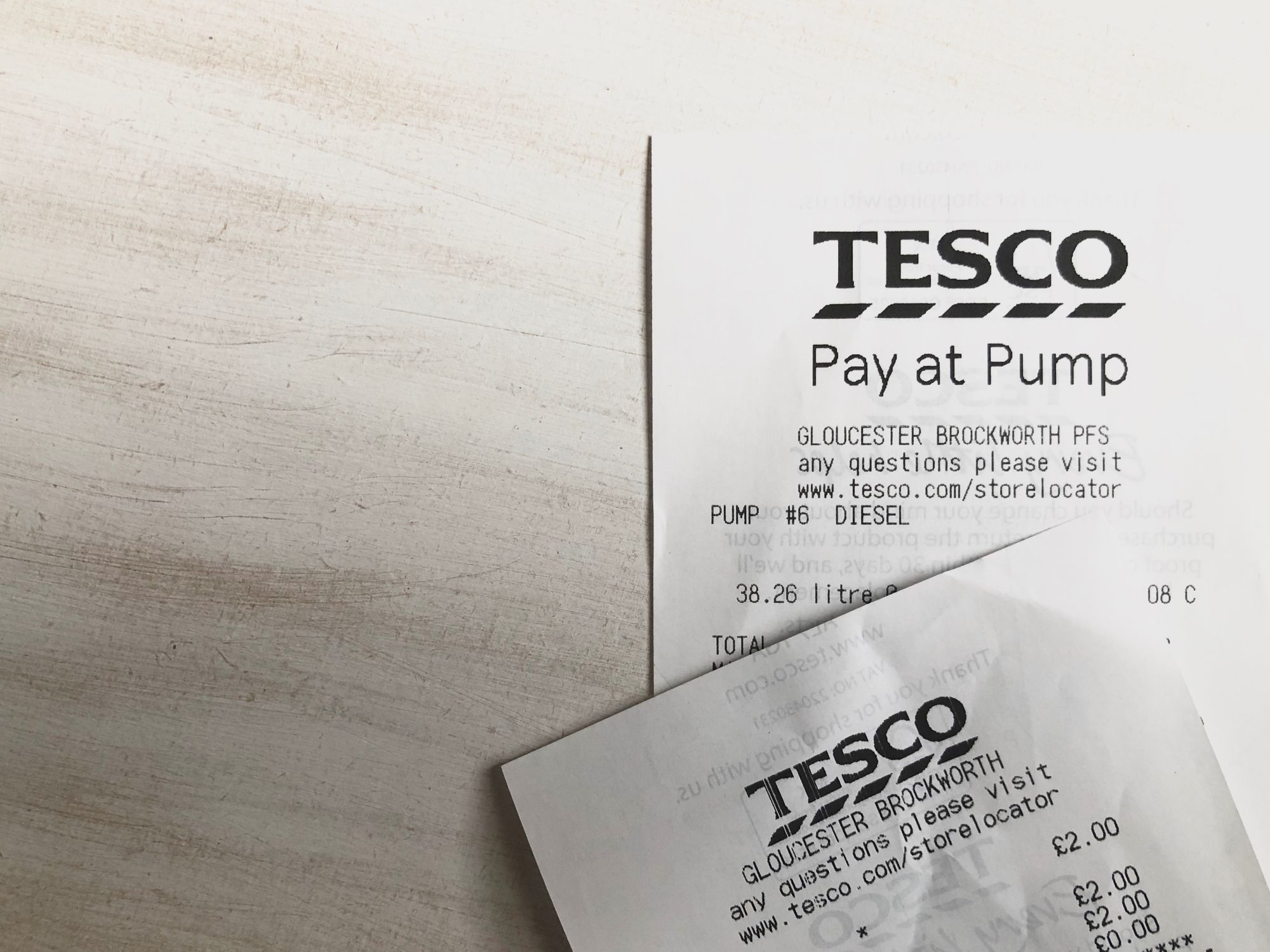 Free stock images money bloggers blog photos Tesco receipts pay at pump diesel supermarket