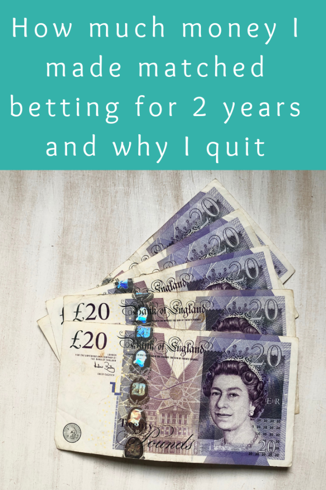 How much money I made matched betting each month for 2 years and why I quit