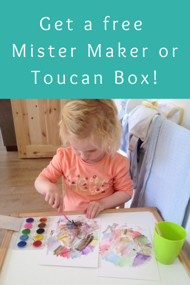 Get a free Mister Maker or Toucan Box for your kids