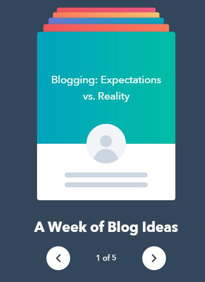 Hubspot blog content ideas generator
