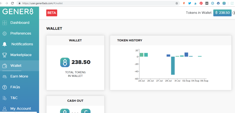 gener8 review get paid to see ads online make money screenshot
