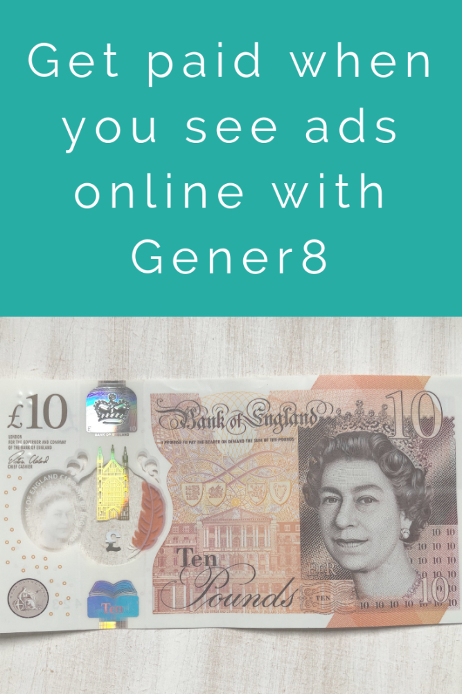 Get paid when you see ads online with Gener8
