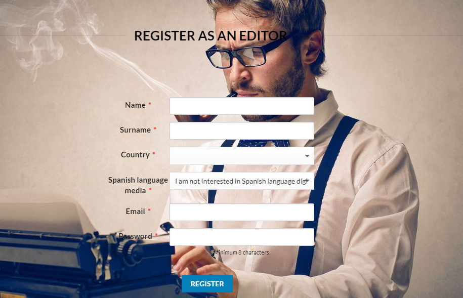 make money blogging with encantena register as editor