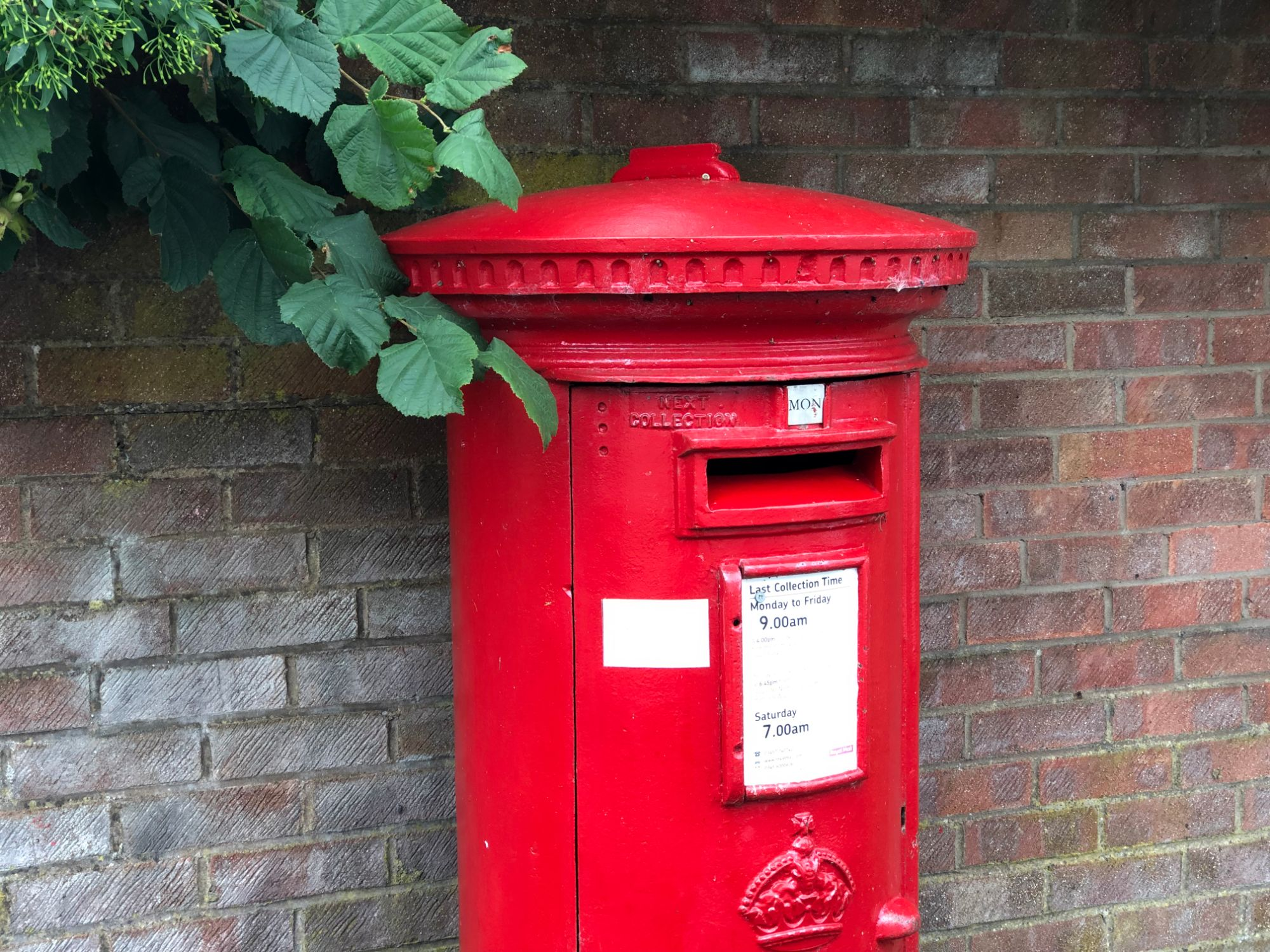 free stock image photo red post box