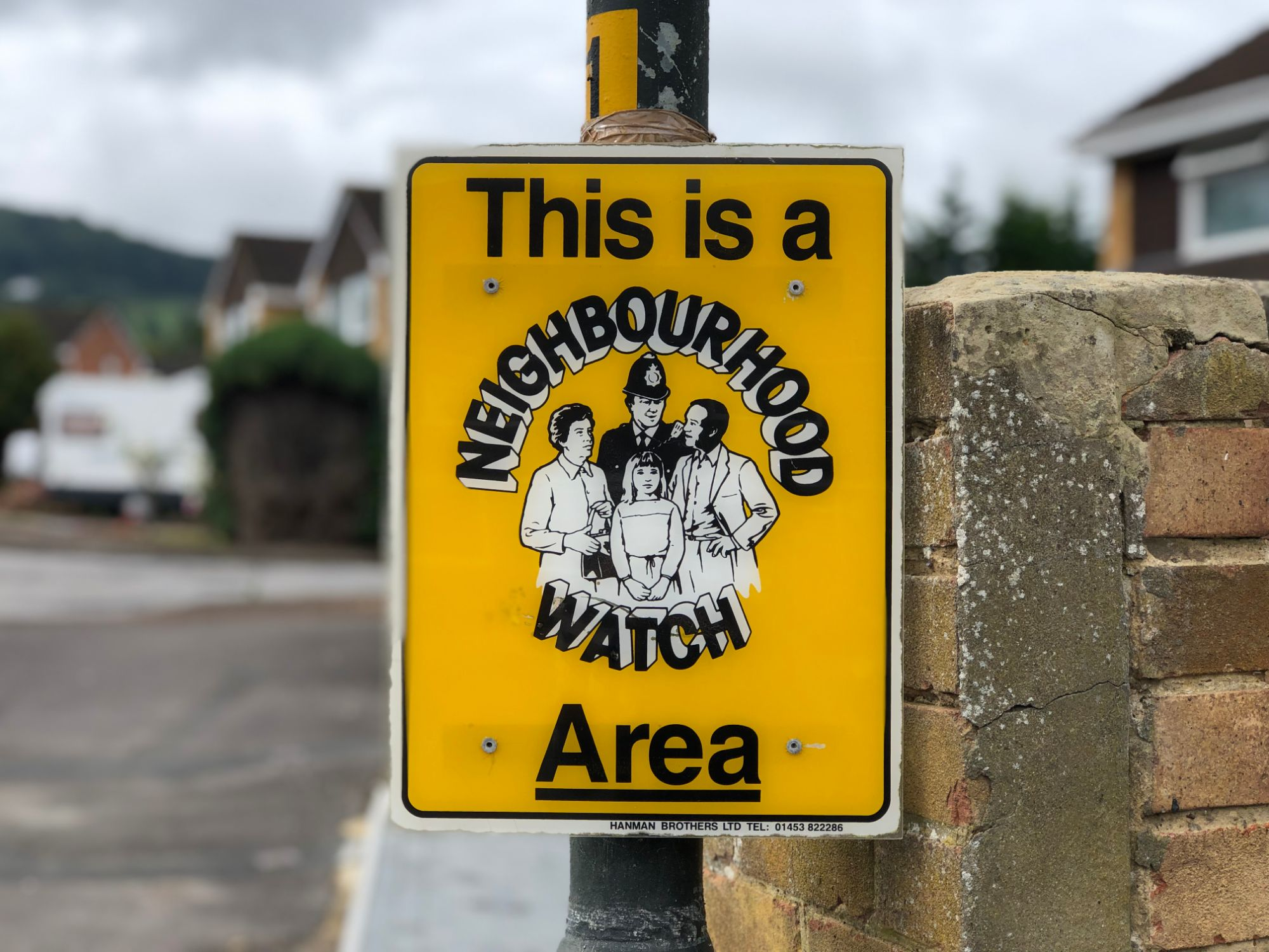 free stock image photo this is a neighbourhood watch area
