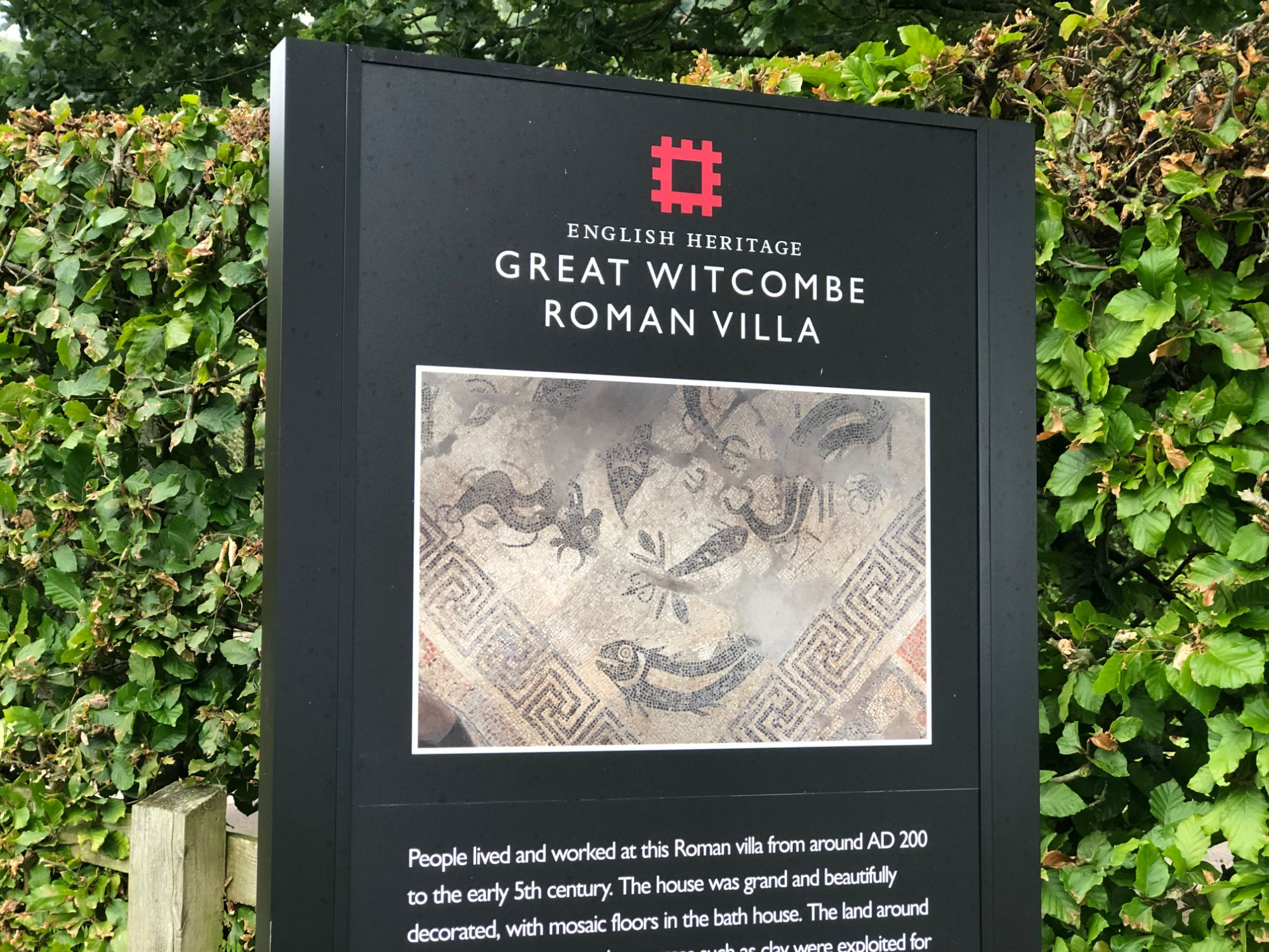 free stock image photo english heritage great witcombe roman villa