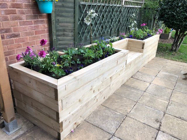 free stock image photo garden planter flowers raised bed