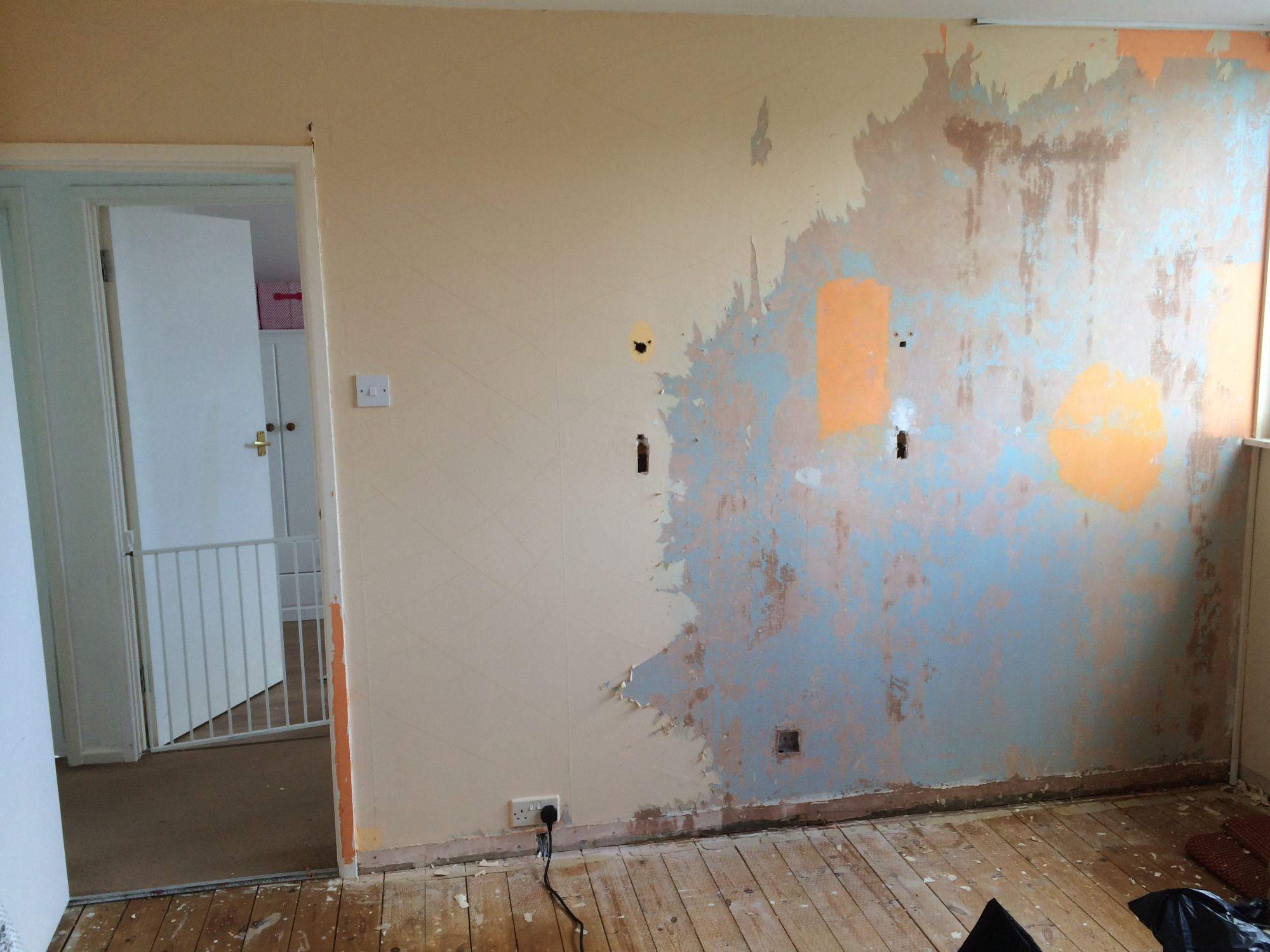 free stock image photo stripping paint repainting house renovation