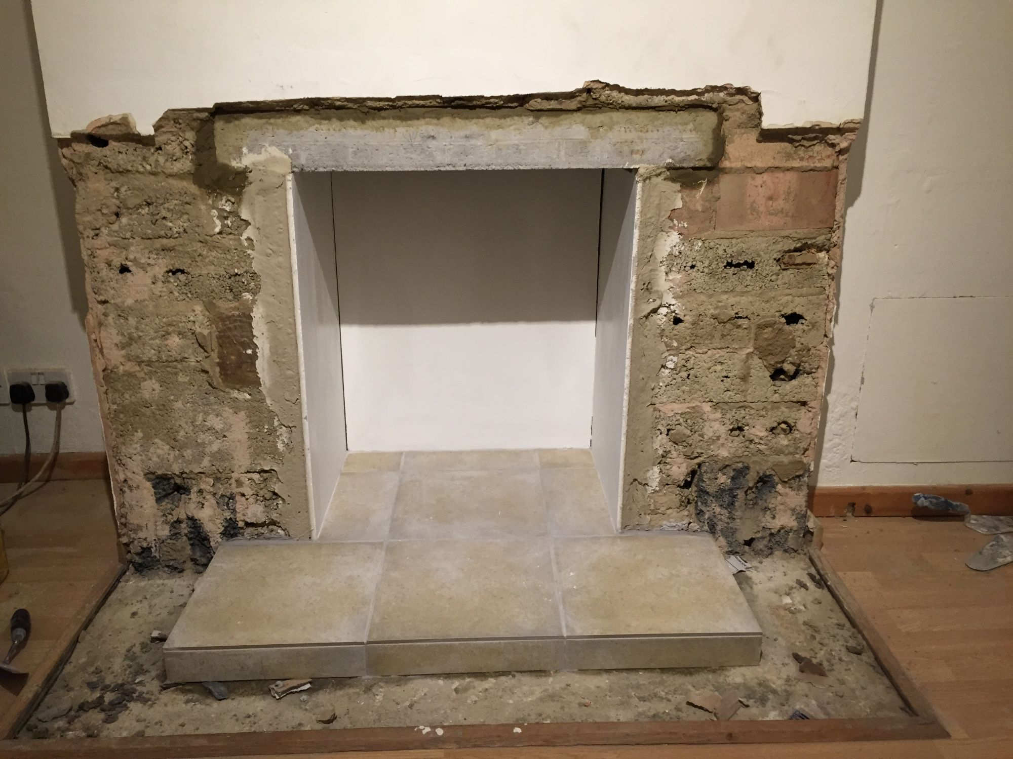 free stock image photo fireplace renovation
