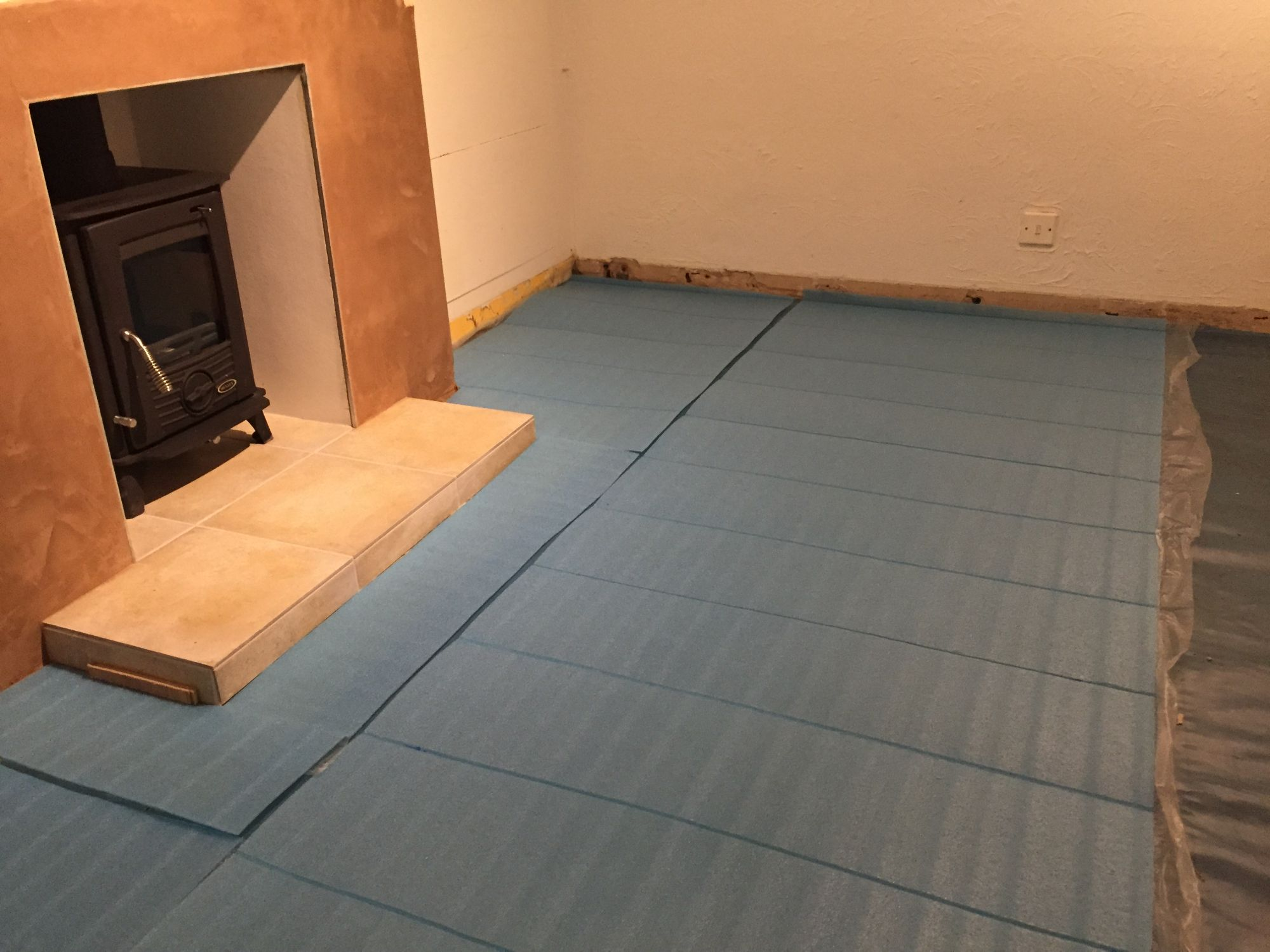 free stock image photo new logburner and underlay for  hard floor