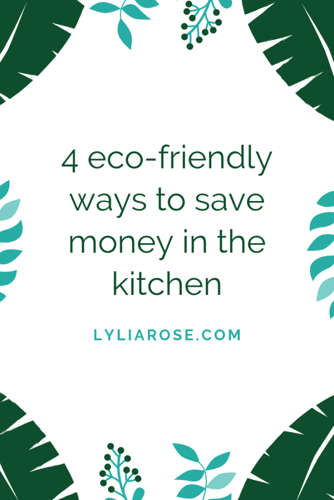 4 eco-friendly ways to save money in the kitchen