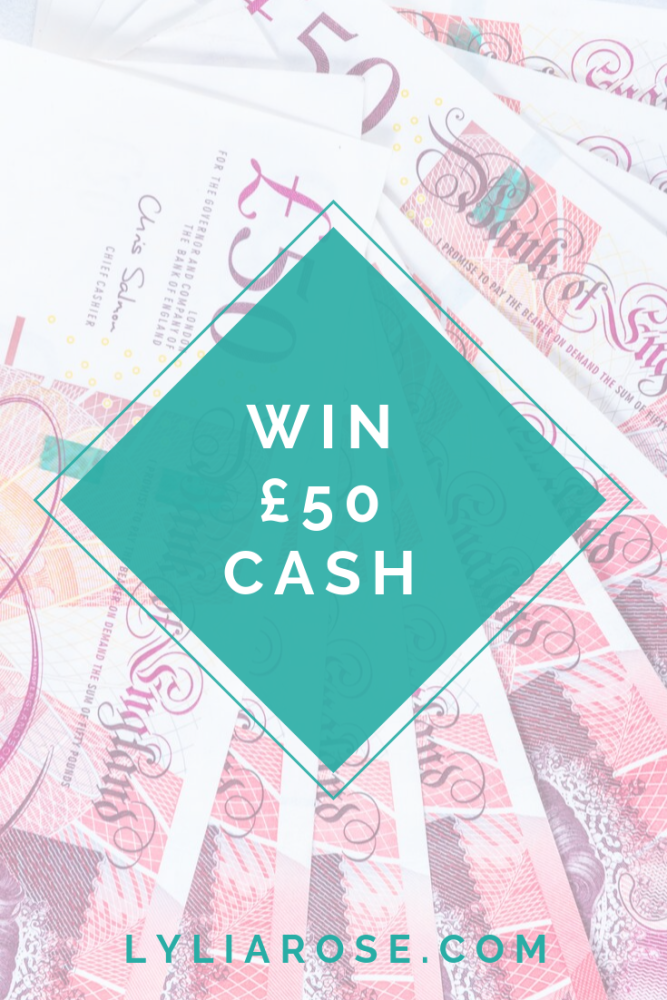 win £50 cash blog giveaway