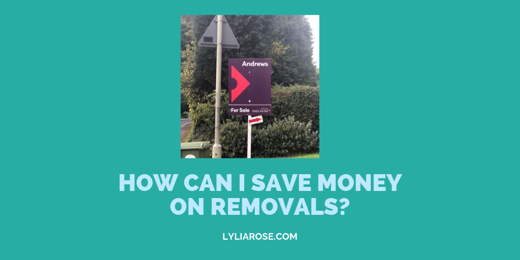 How can I save money on removals?