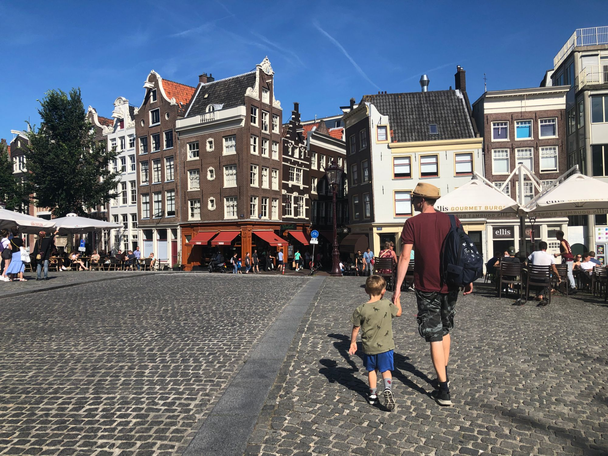 free stock image photo amsterdam city houses wonky walking tour