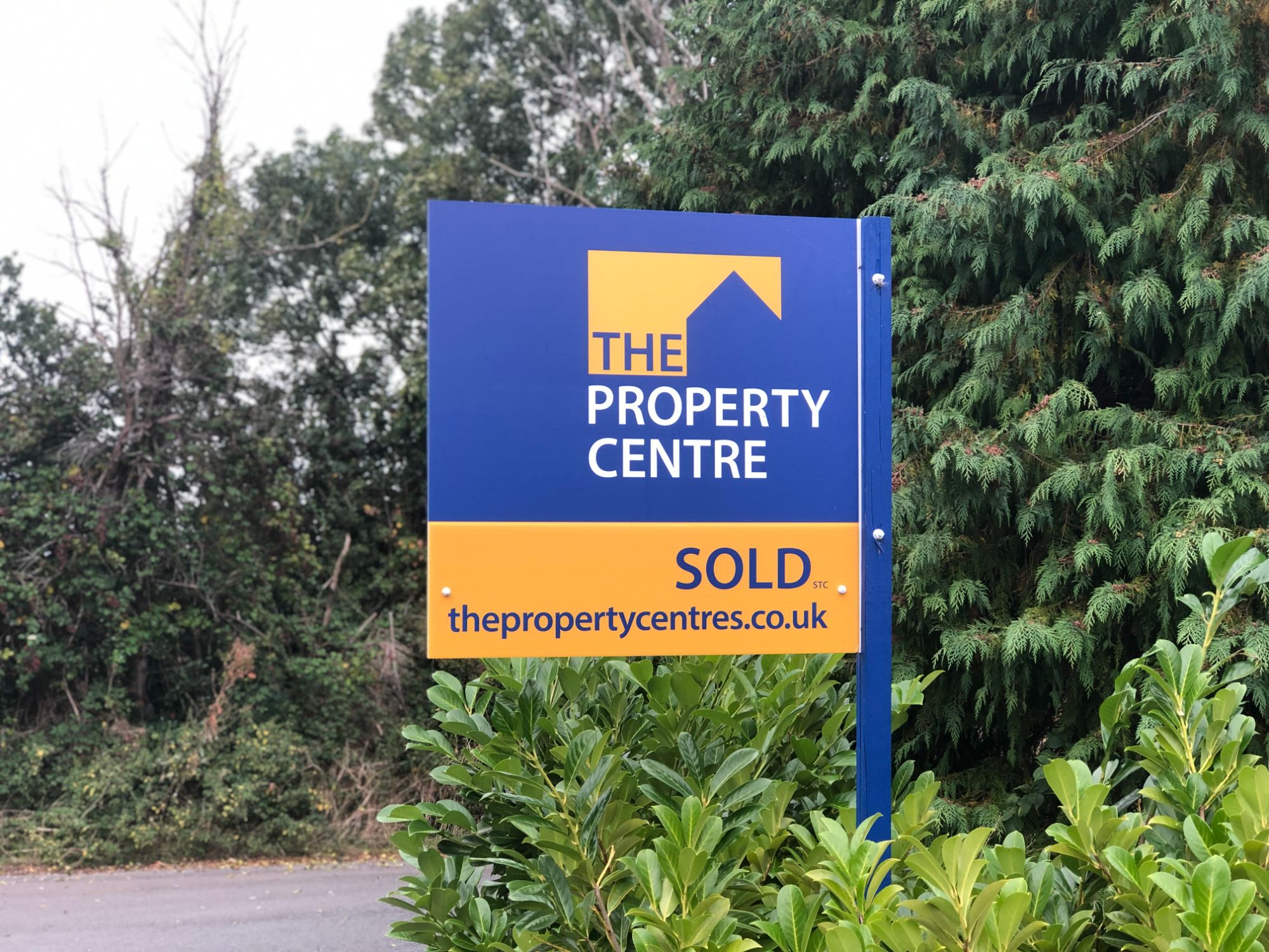 free stock image photo the property centre sold house sign