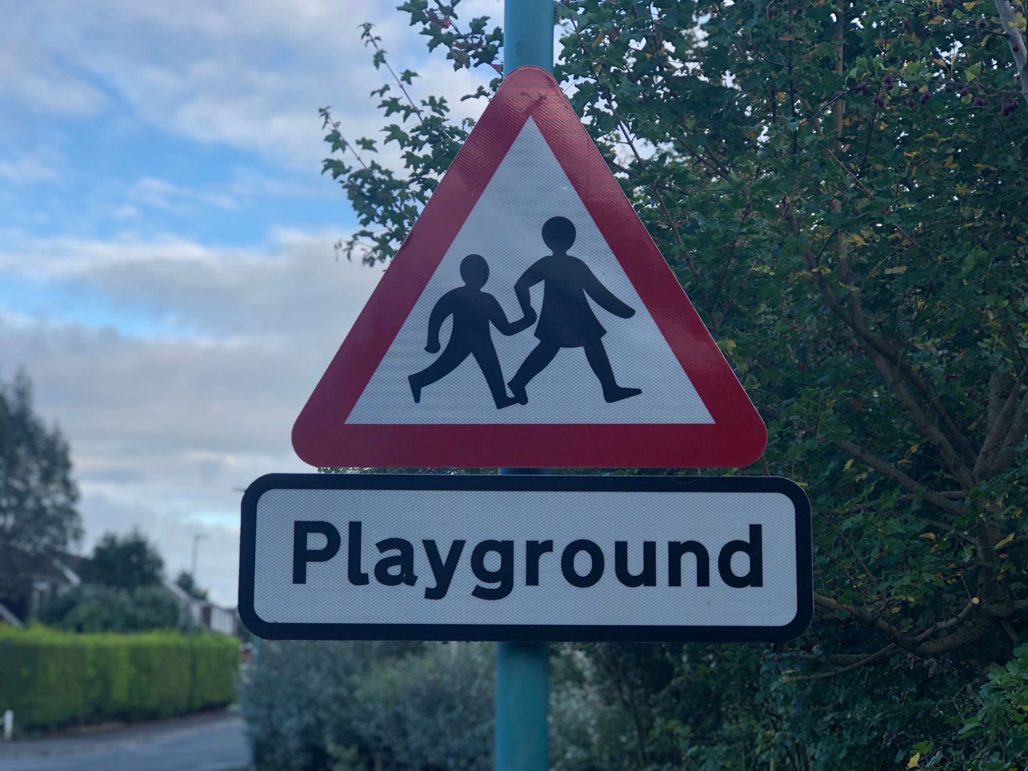free stock image photo playground kids warning sign