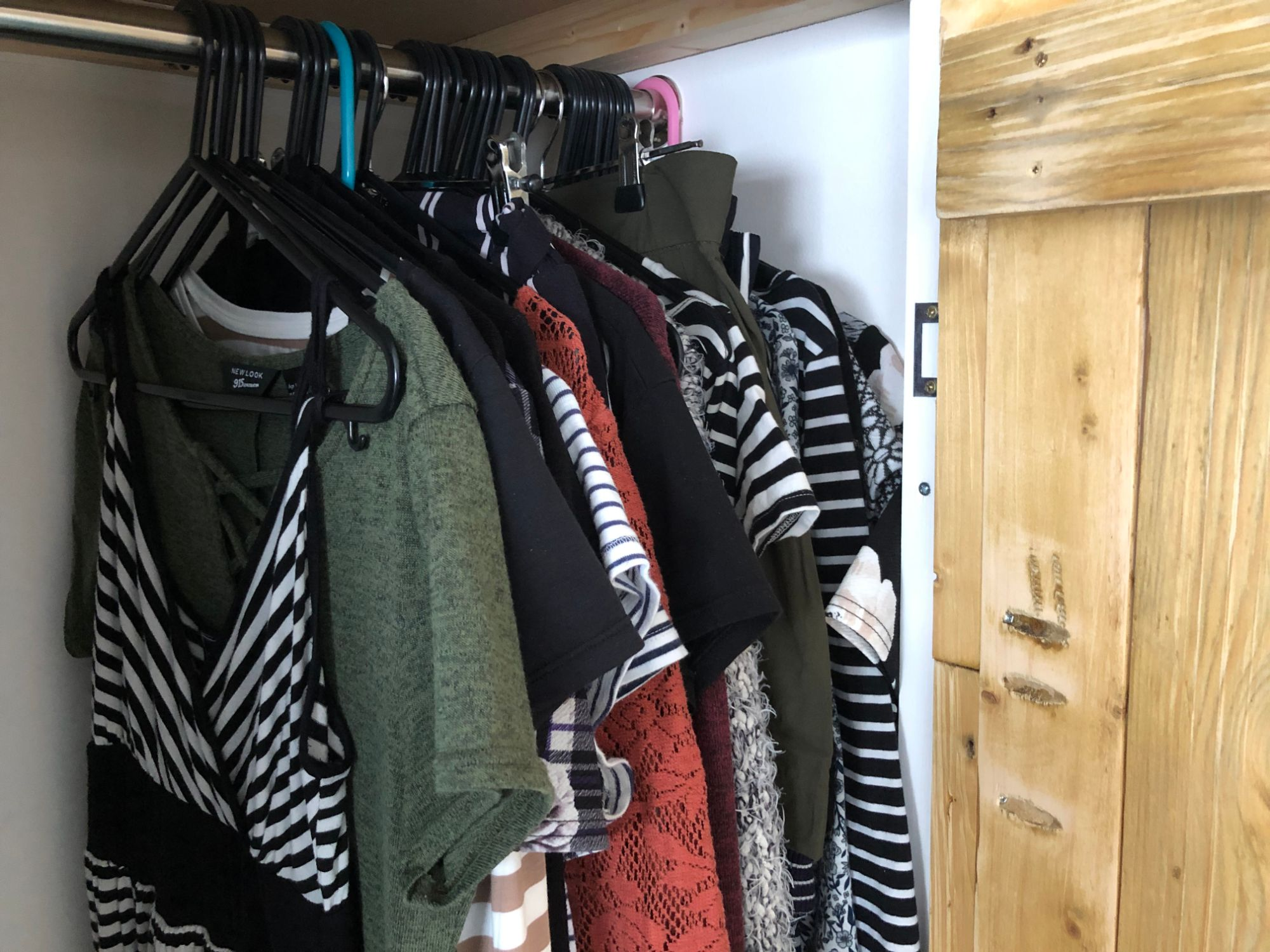 free stock image photo wardrobe hanging clothes