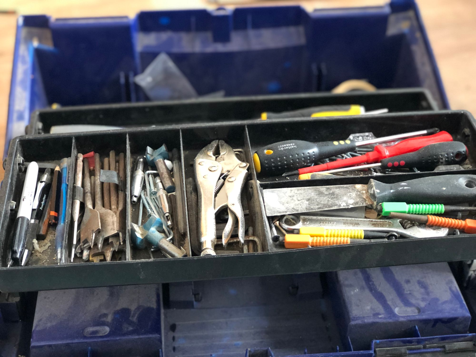 free stock image photo DIY handyman tool box tools