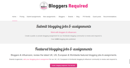 List of websites to find paid blogging opportunities for your blog - blogge