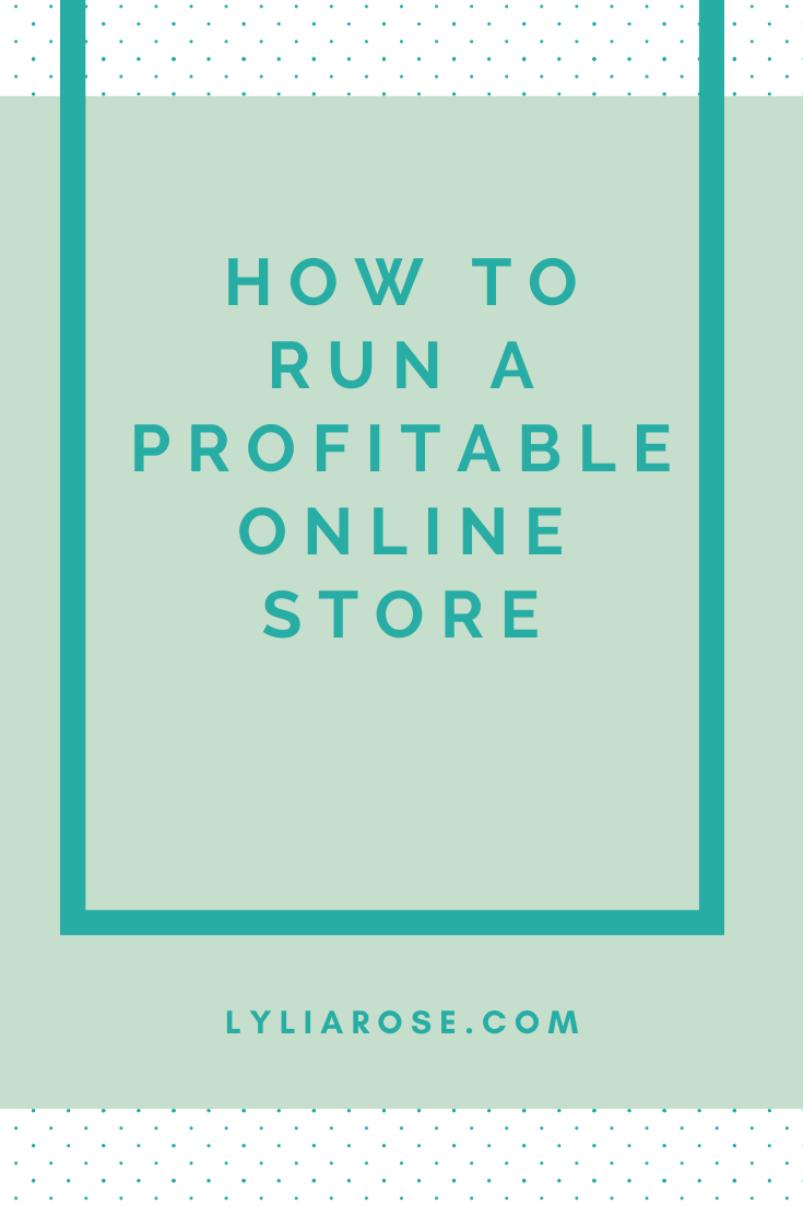 How to run a profitable online store